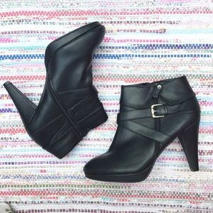Lane Bryant Black Ankle Heel Booties Boots